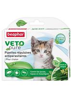 Beaphar Veto Nature / Капли Беафар от Блох, Клещей и Комаров с экстрактом Маргозы для Котят