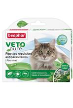 Beaphar Veto Nature / Капли Беафар от Блох, Клещей и Комаров с экстрактом Маргозы для кошек
