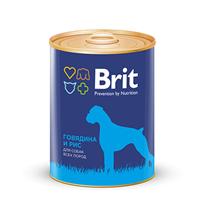 Заказать Brit Premium Beef & Rice / Консервы для собак Говядина и Рис Цена за упаковку по цене 660 руб