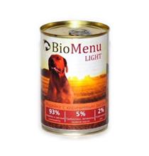 BioMenu Light / Консервы для Собак Индейка с коричневым рисом Цена за упаковку 410x12