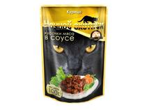 Ночной охотник / Паучи для кошек Курица кусочки в соусе (цена за упаковку)