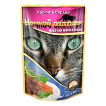 Ночной охотник / Паучи для кошек Кролик и Сердце в желе (цена за упаковку)