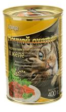 Ночной охотник / Консервы для кошек Курица кусочки в желе (цена за упаковку)