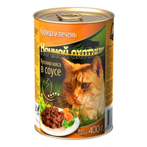 Ночной охотник / Консервы для кошек Курица Печень кусочки в соусе (цена за упаковку)