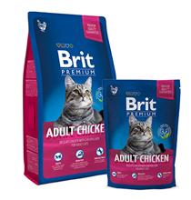 Brit Premium Adult Chicken / Сухой корм Брит Премиум для взрослых кошек Курица и куриная печень