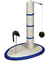 Trixie / Когтеточка-столб для кошек Трикси с Игрушкой и Мышкой на Пружине Сизаль