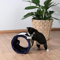 "Trixie / Когтеточка для кошек Трикси ""Колесо"" Темно-Синяя Сизаль/Плюш"