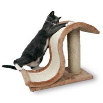 "Trixie / Когтеточка для кошек Трикси ""Волна на подставке"" Сизаль/Плюш"