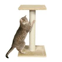 """Trixie / Когтеточка-столб для кошек Трикси """"Espejo"""" с 2-мя площадками Бежевый"""