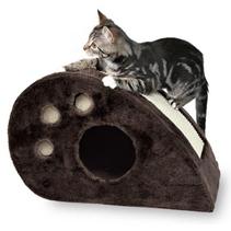 """Заказать Trixie / Домик для кошек """"Topi"""" с Когтеточкой Серый Плюш по цене 3160 руб"""