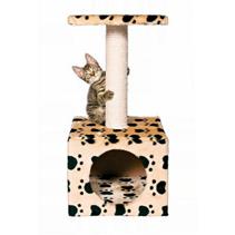 "Trixie / Домик для кошек Трикси ""Zamora"" ""Кошачьи Лапки"" с площадкой Бежевый"