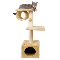 """Заказать Trixie / Домик для кошек """"San Fernando"""" с 2-мя площадками и трубой по цене 4660 руб"""