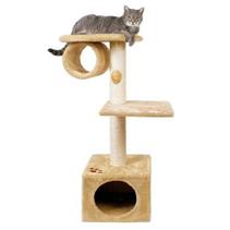"Trixie / Домик для кошек Трикси ""San Fernando"" с 2-мя площадками и трубой"
