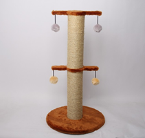 Лион / Когтеточка для кошек Искусственный мех Веревка джут 55х65х35см