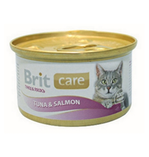 Brit Care Tuna & Salmon / Консервы Брит для Кошек Тунец с Лососем (цена за упаковку)