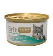 Brit Care Kitten Chicken / Консервы Брит для Котят с Цыпленком (цена за упаковку)