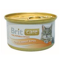 Brit Care Tuna, Carrot & Pea / Консервы Брит для Кошек Тунец, морковь, горошек (цена за упаковку)