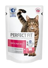 Perfect Fit Adult / Паучи Перфект Фит для взрослых кошек Говядина в соусе (цена за упаковку)