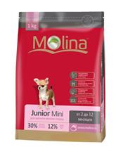 Заказать Molina Junior Mini / Сухой корм для Щенков Мелких пород от 2 до 12 месяцев по цене 430 руб