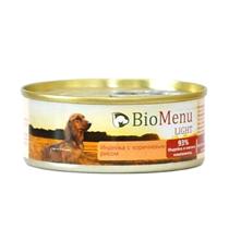 BioMenu Light / Консервы для Собак Индейка с коричневым рисом Цена за упаковку 100x24