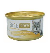 Brit Care Chicken Breast & Cheese / Консервы Брит для Кошек Куриная грудка с сыром (цена за упаковку)