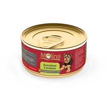 Molina / Консервы Молина для собак Цыпленок с ягненком в желе (цена за упаковку)