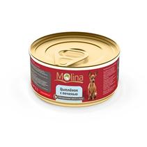 Заказать Molina / Консервы для собак Цыпленок с печенью в соусе Цена за упаковку по цене 980 руб