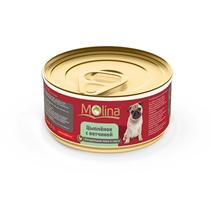 Заказать Molina / Консервы для собак Цыпленок с ветчиной в соусе Цена за упаковку по цене 980 руб