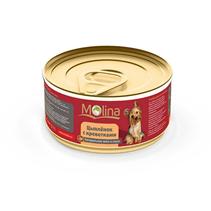 Заказать Molina / Консервы для собак Цыпленок с креветками в соусе Цена за упаковку по цене 980 руб