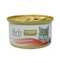 Brit Care Chicken Breast / Консервы Брит для Кошек Куриная грудка (цена за упаковку)