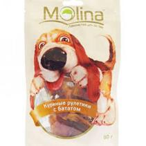 Molina / Лакомство Молина для собак Куриные рулетики с бататом