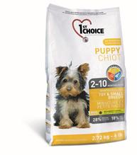 Заказать 1st Choice Puppy Toy&Small Breeds / сухой корм для Щенков Миниатюрных и Мелких пород Курица по цене 200 руб
