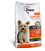 Заказать 1st Choice Senior Mature or Less Active Toy&Small Breeds / сухой корм для Пожилых или Малоактивных собак Миниатюрных и Мелких пород Курица по цене 1240 руб