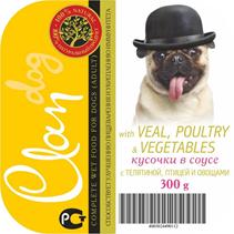 Заказать Clan / Консервы для собак Кусочки в соусе с Телятиной, Птицей и Овощами Цена за упаковку по цене 1780 руб