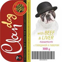Заказать Clan / Консервы для собак Паштет с Говядиной и Ливером Цена за упаковку по цене 1780 руб