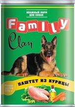Clan Family / Консервы Клан для собак паштет из Курицы (цена за упаковку)