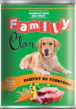 Clan Family / Консервы Клан для собак паштет из Телятины (цена за упаковку)