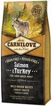 Brit Carnilove Adult Large Breed Salmon & Turkey / Сухой корм Брит Карнилав Беззерновой для взрослых собак Крупных пород Лосось Индейка