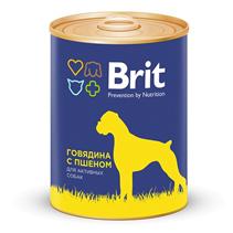 Заказать Brit Premium Beef & Millet / Консервы для собак Говядина и Пшено Цена за упаковку по цене 720 руб