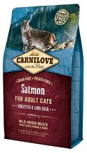 Brit Carnilove Adult Sensitive & Long Hair Salmon / Сухой корм Брит Карнилав для взрослых кошек Лосось