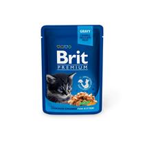 Brit Kitten Premium Chicken Chunks / Паучи Брит Премиум для Котят Курица (цена за упаковку)