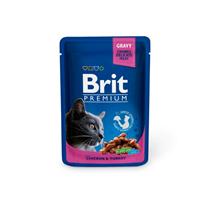 Brit Premium Chicken & Turkey / Паучи Брит Премиум для кошек Курица и Индейка (цена за упаковку)