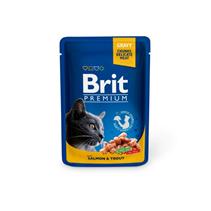Brit Premium Salmon & Trout / Паучи Брит Премиум для кошек Лосось и Форель (цена за упаковку)