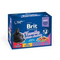 Brit Premium Family Plate / Набор паучей Брит Премиум для кошек Семейная Тарелка (цена за упаковку)
