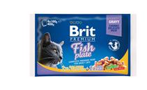 Brit Premium Fish Plate / Набор паучей Брит Премиум для кошек Рыбная Тарелка (цена за упаковку)