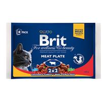 Brit Premium Meat Plate / Набор паучей Брит Премиум для кошек Мясная Тарелка (цена за упаковку)