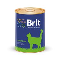 Brit Premium Beef / Консервы Брит Премиум для кошек Говядина