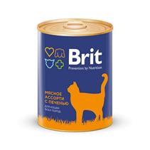 Brit Premium Beef & Liver Medley / Консервы Брит Премиум для кошек Мясное ассорти с Печенью