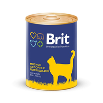 Brit Premium Beef & Offal Medley / Консервы Брит Премиум для кошек Мясное ассорти с Потрошками
