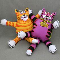 """Fat Cat Terrible Nasty Scaries Toy / Игрушка Фэт Кэт мягкая для собак """"Злобный кот"""" Большая"""